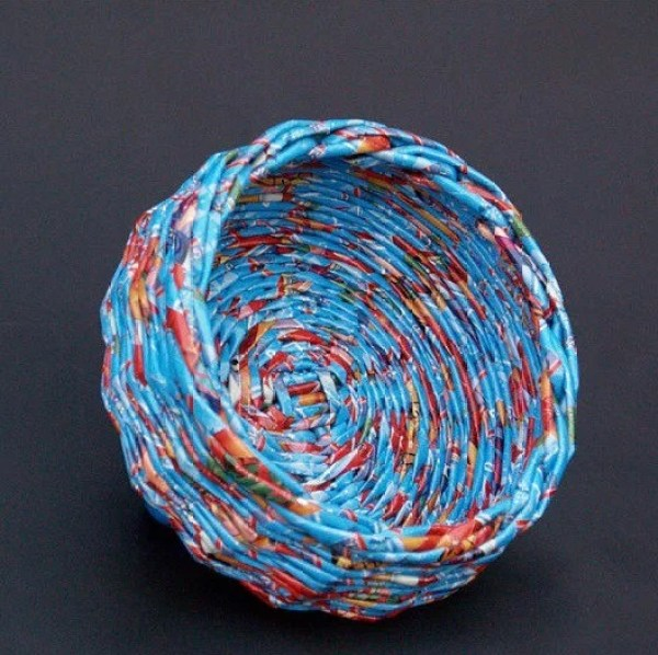 Bowl Made with used wrapping paper