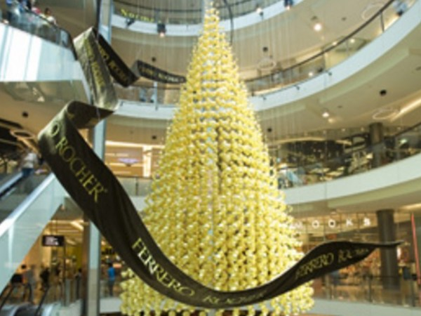 Ferrero Rocher Christmas Tree Made From Golden Baubles