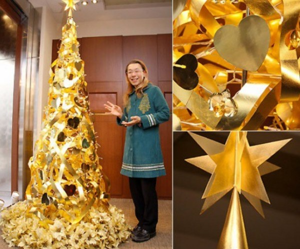 Shogo Kariyazaki Christmas Tree Made From Gold