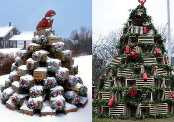 Julian Popko and family Christmas Tree Made From lobster pots