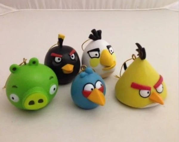 Angry Bird Inspired Christmas Tree Baubles