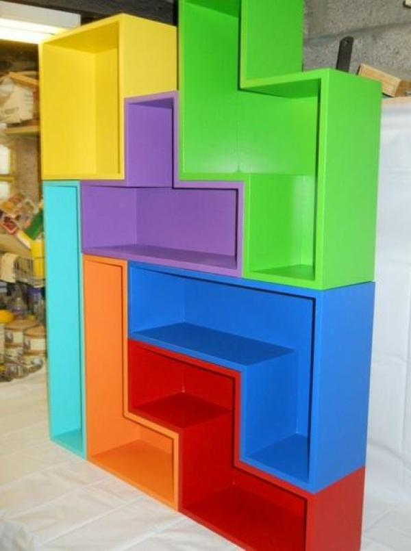 Tetris Themed Bookcase