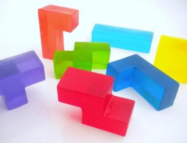 Tetris Themed soaps