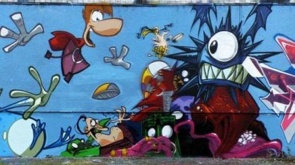 Rayman Inspired Street Art