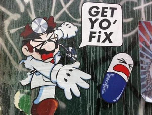 Dr Mario Inspired Street Art
