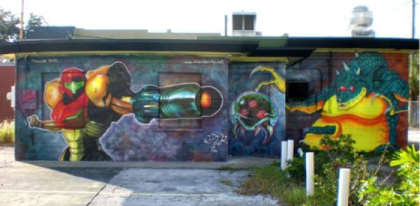 Super Metroid Inspired Street Art