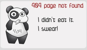 Funny 404 Error Page