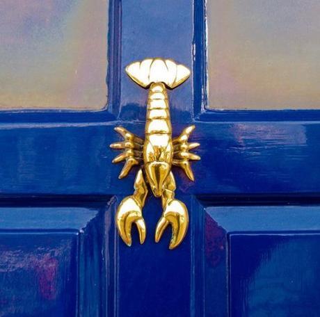 Lobster inspired door knocker