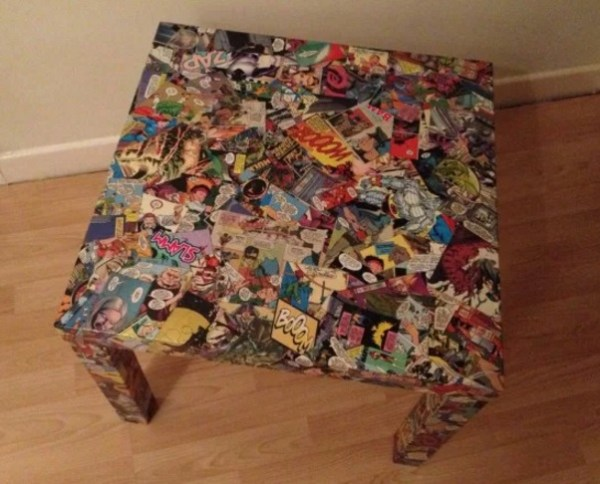 DC MARVEL comics inspired coffee table