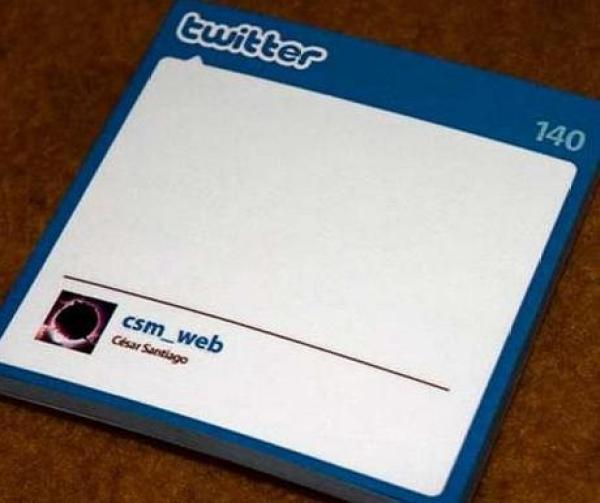 Twitter Inspired Post-it notes
