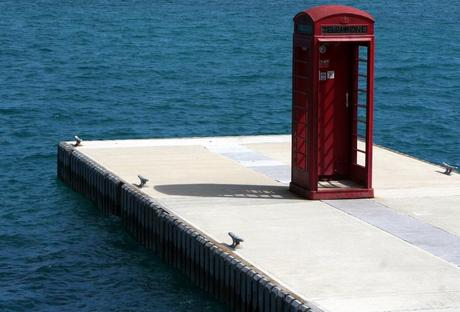 Red Telephone Box / Phone Booth turned into Beach Shower