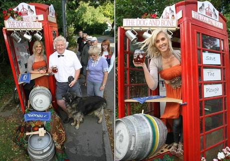 Red Telephone Box / Phone Booth turned into a bar / Pub