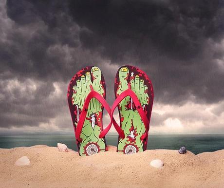 Zombie Inspired Flip Flops