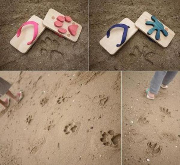 Animal Print Inspired Flip Flops