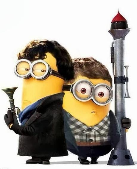 Minions Redesigned as Sherlock and Dr Watson