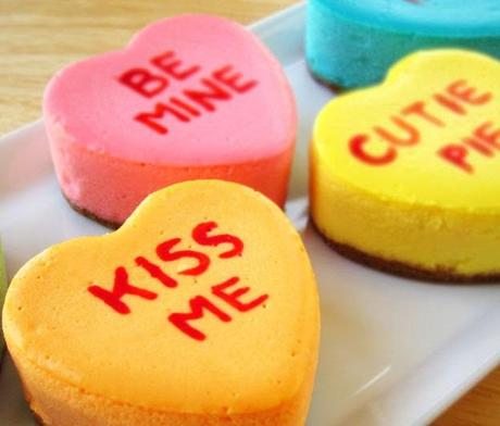 Love Heart Sweets Inspired Cheesecake