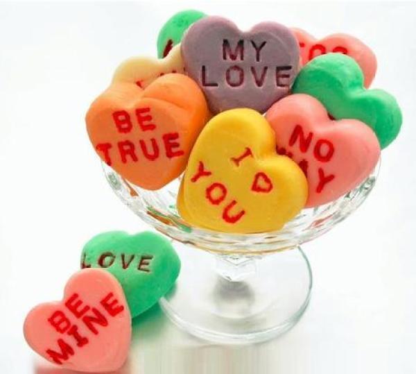 Love Heart Sweets Inspired Fudge