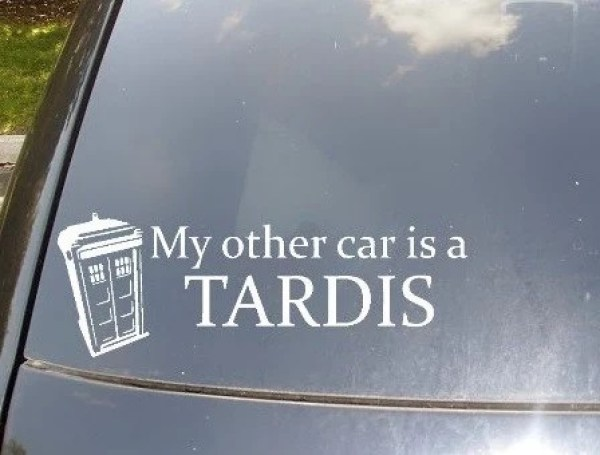 Tardis Car Decal Sticker