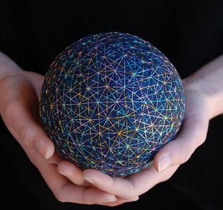 Star Burst Effect Temari Ball