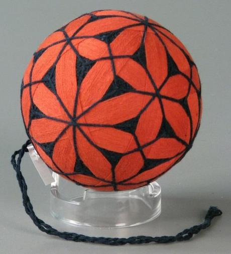 Orange and Black Temari Ball