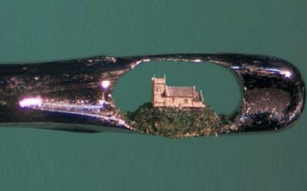 Miniature Sculpture: Hilltop Church