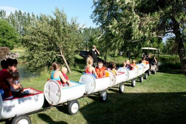 liquid drums turned into a land train