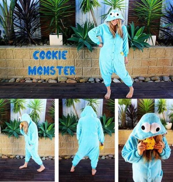 Cookie Monster Inspired Onesie
