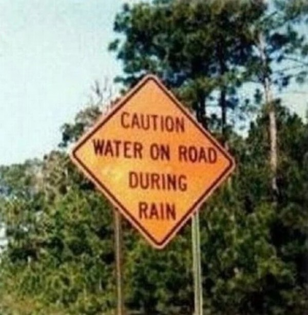 Pointless Road Sign