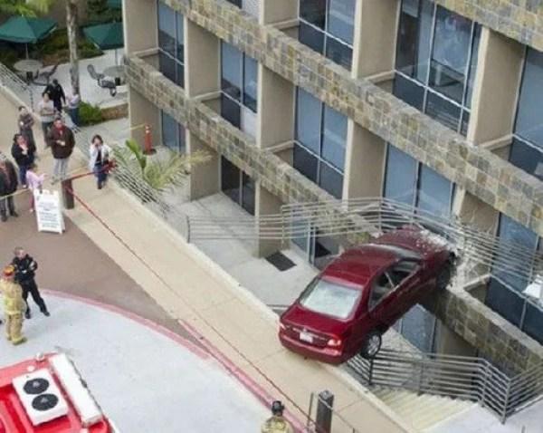Car crash across gap