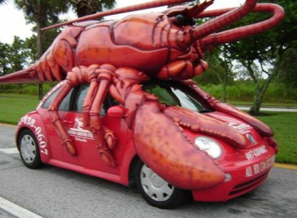 Lobster themed vehicle