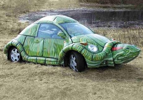 Turtle themed vehicle