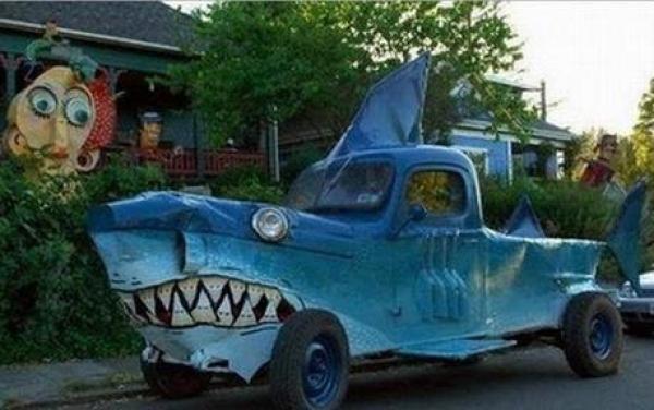 Shark themed vehicle