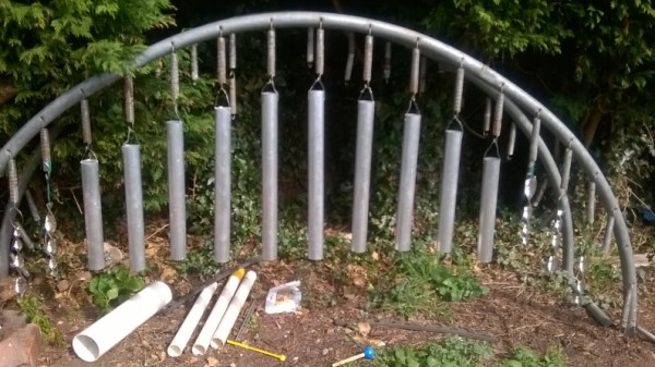 Trampoline Turned Into an Outdoor Xylophone
