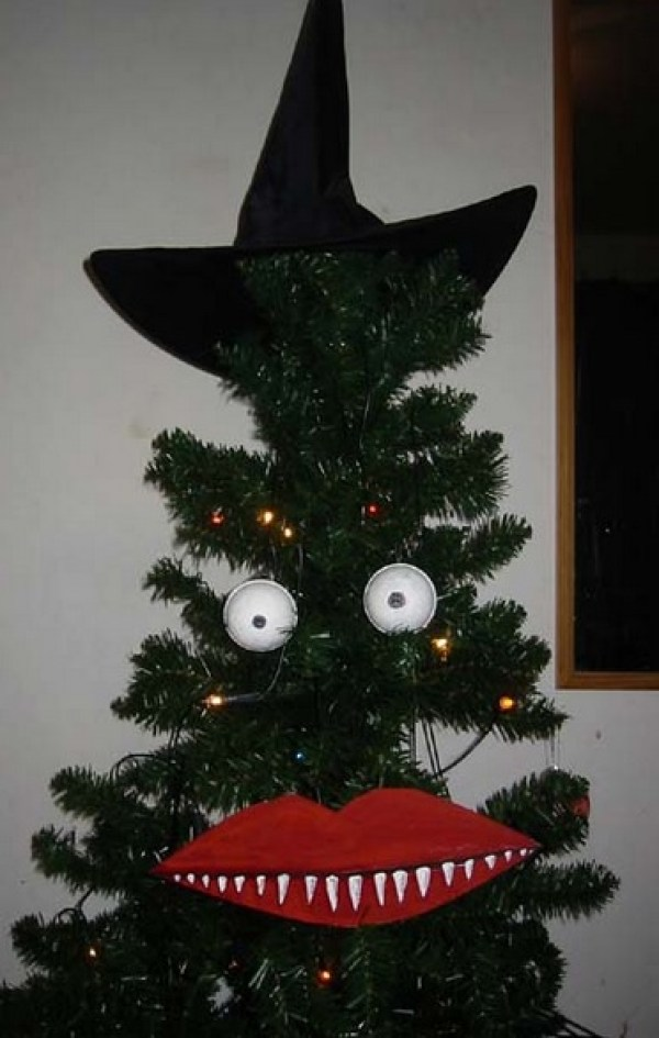 Weird and scary looking Christmas tree