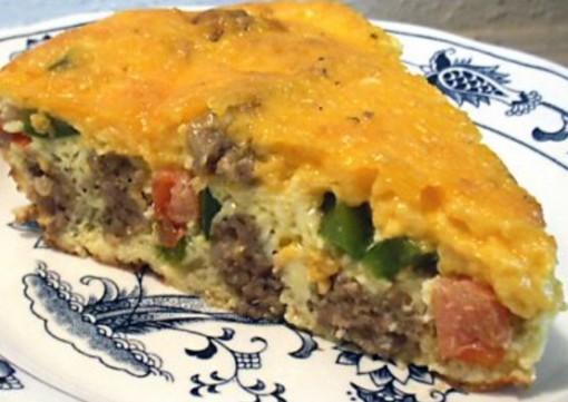 Spanish Style Sausage Quiche