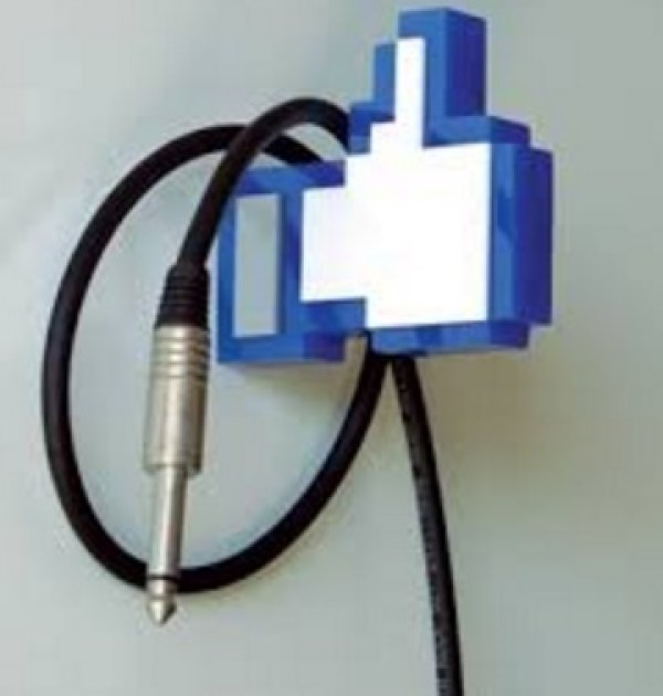 "Facebook Thumbs Up ""Like"" Clothes Hanger"