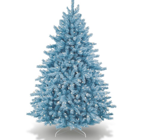 Ice-Blue Coloured Christmas Tree