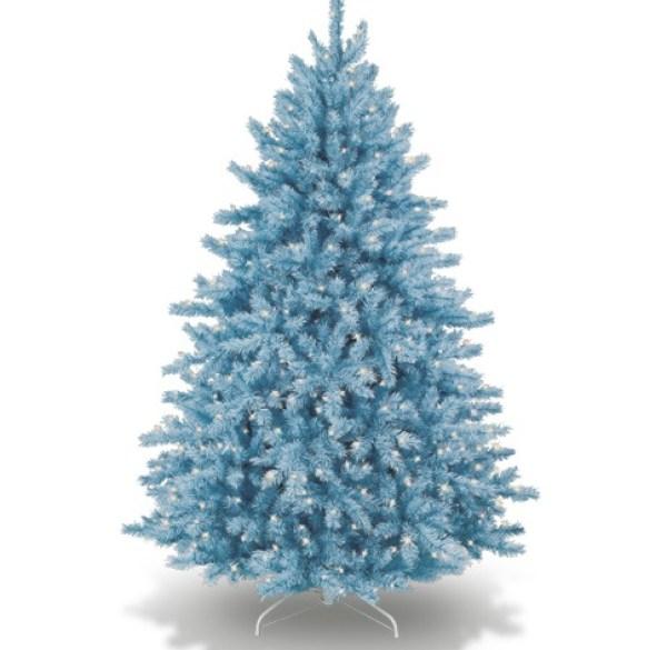 Ice-Blue Coloured Christmas Tree