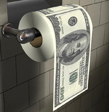 Money Toilet Paper / Loo Roll