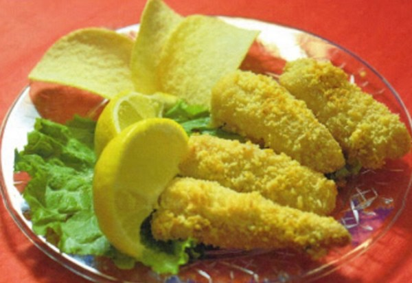 Crispy Fish Nuggets Made With Pringles