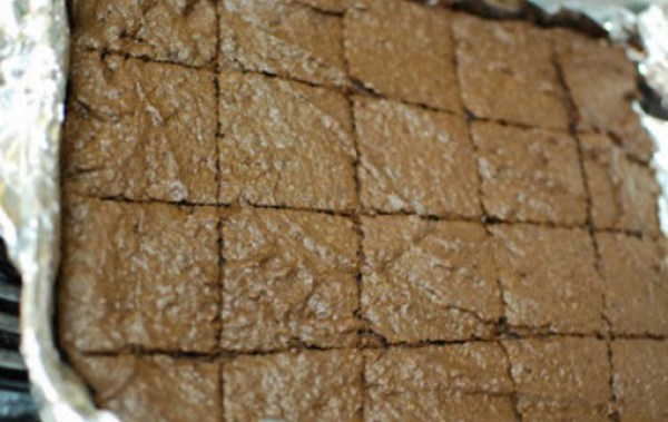 Crisp Brownies Made With Pringles