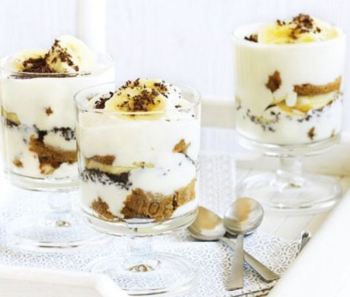 Banana & Custard Pots