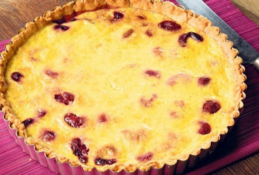 Cherry And Custard Tart