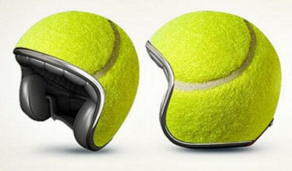Tennis Ball Crash Helmet