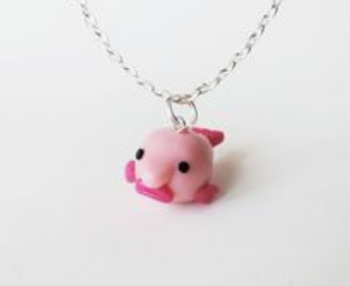 Blobfish Charm Necklace