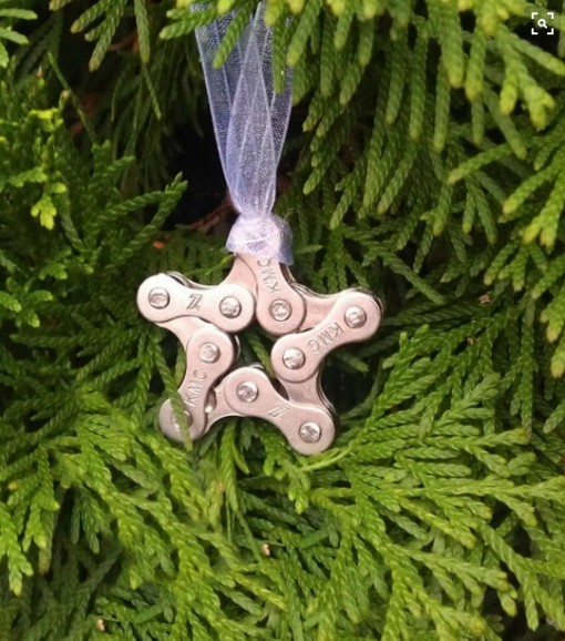 Bicycle Chain Christmas Ornament