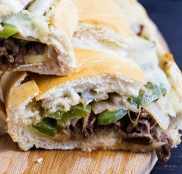 Philly Cheesesteak Stuffed French Loaf