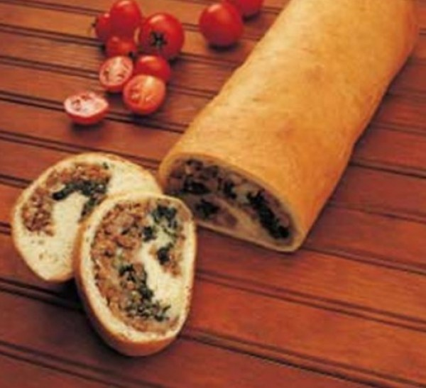 Sausage & Spinach Stuffed Loaf