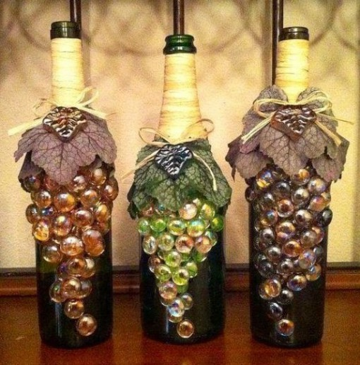 Glass Marbles Used To Make Grape Effect Bottles