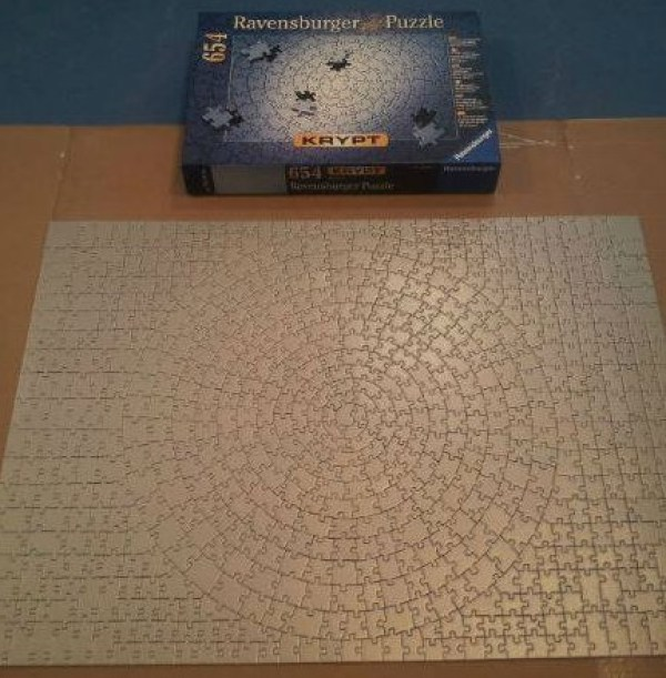 Blank Jigsaw Puzzle - 654 Pieces